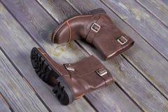 Ботинки красивого стиля вскользь Стоковая Фотография RF