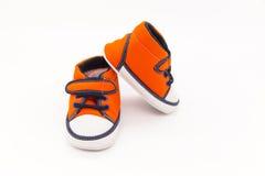 ботинки красного цвета младенца Стоковое Изображение RF