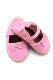 ботинки красного цвета младенца Стоковые Фотографии RF