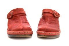 ботинки красного цвета пар Стоковые Фотографии RF