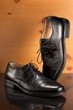 ботинки людей s платья кожаные Стоковое Изображение RF