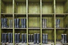 Ботинки минируя оборудования резиновые Стоковые Фото