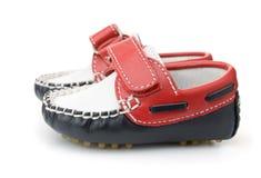 ботинки младенца кожаные Стоковая Фотография
