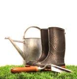 ботинки могут мочить инструмента сада Стоковое Изображение