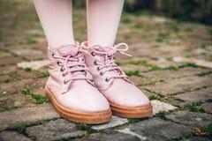 Ботинки моды розовые Стоковая Фотография
