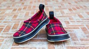 ботинки младенца милые Стоковое фото RF