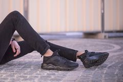 Ботинки Найк побежали Huarache, который ультра Стоковое Изображение