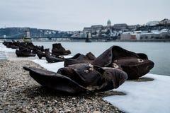 Ботинки на Дунае Стоковая Фотография