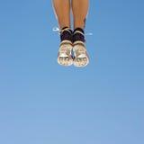 Ботинки на ногах Стоковые Фотографии RF