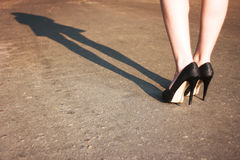 Ботинки на ногах Стоковая Фотография RF