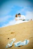 ботинки невесты пожененные парами заново Стоковое Фото