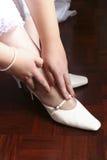 ботинки невесты Стоковые Изображения