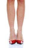 ботинки ног длинние красные Стоковые Изображения
