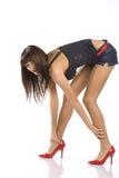 ботинки ног нагие красные Стоковая Фотография