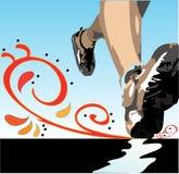 ботинки ног jogger Стоковая Фотография RF