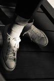 Ботинки носки женщины Стоковые Изображения RF