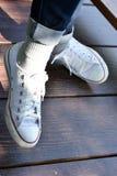 Ботинки носки женщины Стоковая Фотография