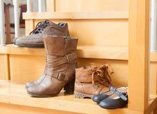 Ботинки осени стоковые фотографии rf