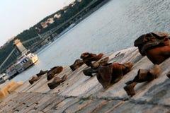 ботинки памятника budapest Стоковые Изображения RF