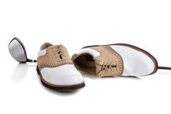 ботинки пар гольфа клуба golfing Стоковые Изображения