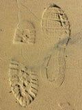 Ботинки песка Стоковое Изображение RF