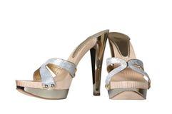 ботинки платформы металла Стоковая Фотография