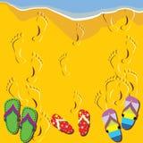 ботинки пляжа Иллюстрация штока
