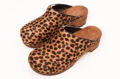 ботинки повелительниц потехи clog меховые Стоковые Фотографии RF