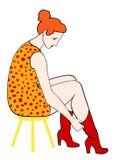 ботинки положили ретро женщину бесплатная иллюстрация