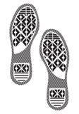 Ботинки подошв отпечатка - тапки Стоковое фото RF
