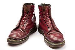 ботинки предпосылки изолировали старую белую работу Стоковые Изображения