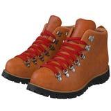 Ботинки при красные шнурки изолированные на белизне, бесплатная иллюстрация