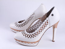 ботинки пятки высокие Стоковая Фотография