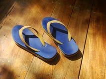 Ботинки пляжа сандалий Стоковая Фотография