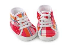 ботинки ребёнка розовые стоковое изображение rf