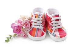 ботинки ребёнка розовые стоковые изображения rf