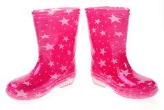 ботинки розовый wellington Стоковые Фото