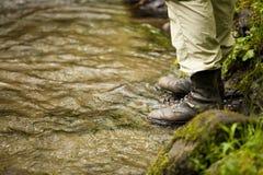 Ботинки рыбной ловли Стоковая Фотография