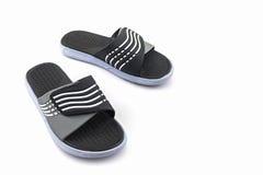 Ботинки сандалий Черные темповые сальто сальто цвета Стоковое Изображение