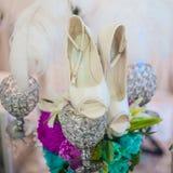 Ботинки свадьбы стоковые фотографии rf