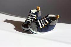 ботинки сини младенца Стоковая Фотография RF