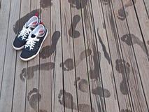 ботинки следов ноги Стоковые Фотографии RF