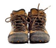 ботинки спаривают worn Стоковые Изображения RF
