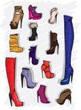 ботинки способа Стоковые Фотографии RF