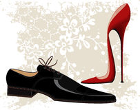 ботинки способа иллюстрация вектора