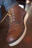 Ботинки старого коричневого ботинка кожаные Стоковое Изображение RF