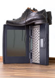 ботинки тетради Стоковая Фотография