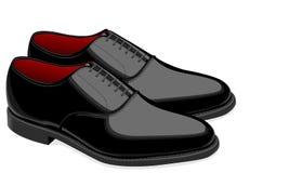 Ботинки чернокожих человек Стоковая Фотография RF