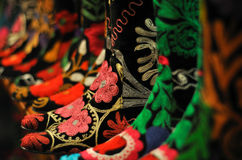 ботинки чувствовали пестротканые картины турецкие Стоковая Фотография RF