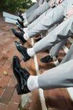 Ботинки людей и ноги тяжелого дыхания Стоковая Фотография RF